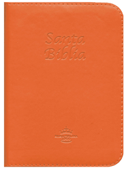 Biblia RVR 1960 Tam. Bolsillo, Piel Imit. Anaranjada, Cremallera  (RVR 1960 Pocket Bible, Imit. Leather Orange, Zipper)  -