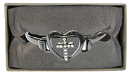 Cross Hinged Bracelet  -