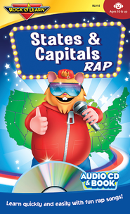States & Capitals CD & Book   -
