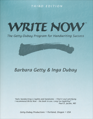WRITE NOW Getty-Dubay Handwriting Program, 3rd Edition   -     By: Barbara Getty, Inga Dubay