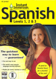 Instant Immersion Spanish--Levels 1, 2 & 3 on CD-ROM   -