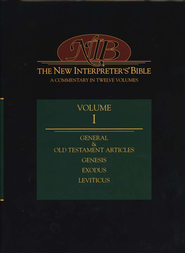 New Interpreter's Bible Volume 1: General Old Testament Articles, Genesis, Exodus, and Leviticus - Slightly Imperfect  -