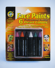 Jumbo Crayons Face Paint, Pearl Colors   -