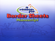 A Reason for Handwriting Border Sheets, Manuscript   -     By: Homeschool