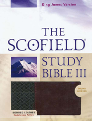 KJV, The Scofield Study Bible III, Basketweave BK/BG,  Bonded Leather, Thumb-Indexed  -