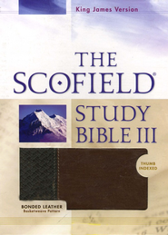 KJV, The Scofield Study Bible III, Basketweave BN/TN, Bonded  Leather, Thumb-Indexed  -