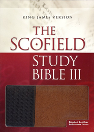 KJV Scofield Study Bible III, Bonded leather, Basketweave Thumb-Indexed  -