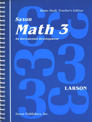Saxon Math 3, Home Study Teacher's Edition, 1st Edition   -