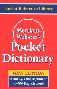 Merriam-Webster's Pocket Dictionary   -