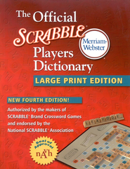 The Official Scrabble Players Dictionary, Large Print Fourth Edition  -