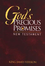 KJV God's Precious Promises New Testament, Burgundy Cover  -