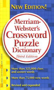 Merriam-Webster's Crossword Puzzle Dictionary, Third Edition  -