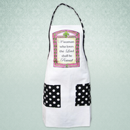 A Woman Who Loves the Lord Shall Be Praised, Apron   -