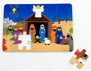Foam Nativity Puzzle, 1 Dozen   -