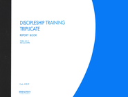 Discipleship Training Triplicate Report Book, 281-T                 (11 x 8 1/2) - Slightly Imperfect  -