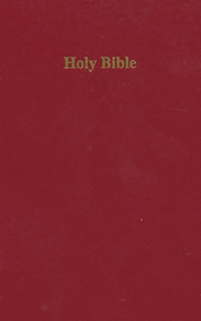 KJV Pew Bible Hardcover, red  -