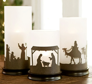 Hurricane Candle Holders for Christmas and Year-round   -