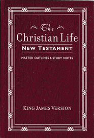 KJV The Christian Life New Testament Leatherflex, Burgundy  -