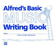 Alfred's Basic Music Writing Book, Wide-lined, 24 pages   -