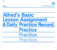 Lesson Assignment and Practice Record   -