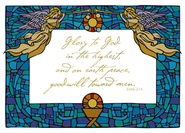 Stained Glass Angel Christmas Cards, Box of 16  -