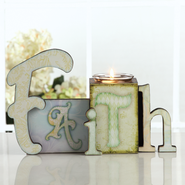 Faith Votive Holder  -              By: Connie Halley