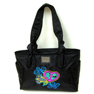 Grace Heart Mini Handbag, Black  -