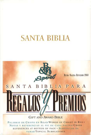 Biblia de Premios y Regalos RVR 1960, Piel Imit., Blanco  (RVR 1960 Gift & Award Bible, Imitation Leather, White)  -