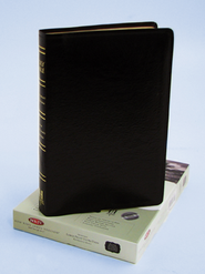 NKJV Ultra Thin Large Print Reference Bible, Bonded leather, Black, Thumb-indexed  -