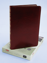 NKJV Ultra Thin Large Print Reference Bible, Bonded leather, Burgundy, Thumb-indexed  -