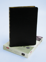 NKJV Ultra Thin Large Print Reference Bible, Genuine leather,  Black, Thumb-Indexed  -