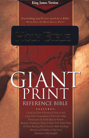 KJV Giant-Print Reference Bible, Imitation leather blue, thumb-indexed  -