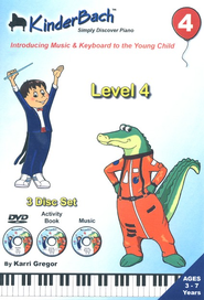 KinderBach Level 4 DVD/CD Set    -