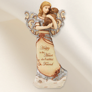 Happy is the Heart Angel with Puppy Figurine  -
