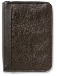 Pebble Textured Organizer Bible Cover, Brown   -