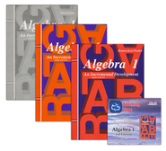 Saxon Math Algebra 1, 3rd Edition Home Study Kit & Teaching Tape Technology DVD Set Bundle  -