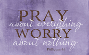 Pray About Everything Magnet  -