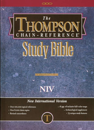 NIV Thompson Chain-Reference Bible, Hardcover, Thumb Indexed  1984  -