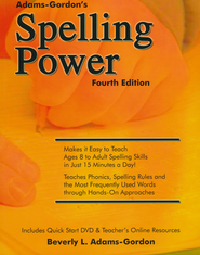 Spelling Power, Fourth Edition with DVD and CD-ROM   -              By: Beverly L. Adams-Gordon