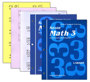Saxon Math 3, Student Work Kit & Fact Cards   -