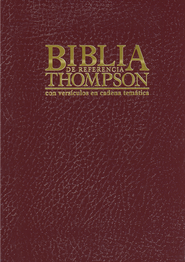 Biblia de Referencia Thompson RVR 1960, Enc. Dura Vino  (RVR 1960 Thompson Chain-Ref. Bible, Hardcover Burgundy)  -