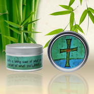 Show Off Your Faith Candle Tin, Himalayan Bamboo  -