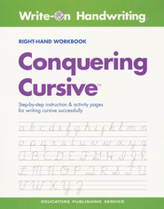 Conquering Cursive Right-Handed Workbook  -