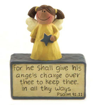 He Shall Give His Angels Charge Figurine  -