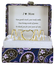 I Love Mom in a Paisley Box  -