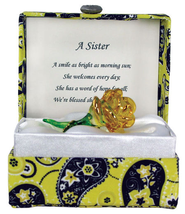 Yellow Rose in a Paisley Box, Sister  -