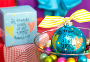 A Friend Loves at All Times Ornament to Personalize, Gift Boxed  -