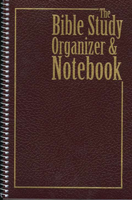 The Bible Study Organizer & Notebook   -
