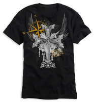 Cross Shirt, Black, XX Large  -