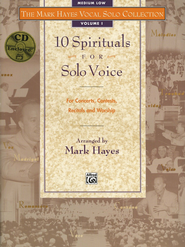 Volume 1: 10 Spirtuals for Solo Voice Songbook & Medium Low Audio CD  -     By: Mark Hayes
